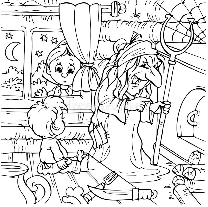 Download Boy in a witch house stock illustration. Image of fairy - 14555269