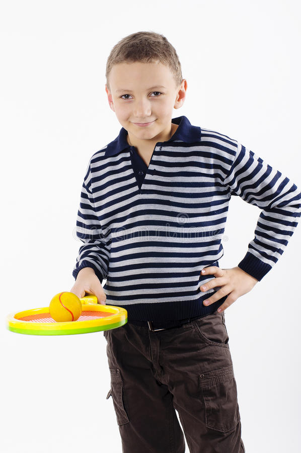 Free Boy With A Tennis Racket Stock Images - 31684954