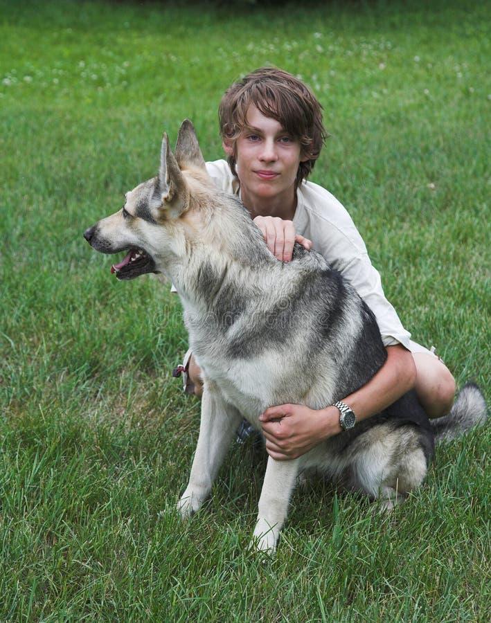 Free Boy With Dog Stock Image - 936521