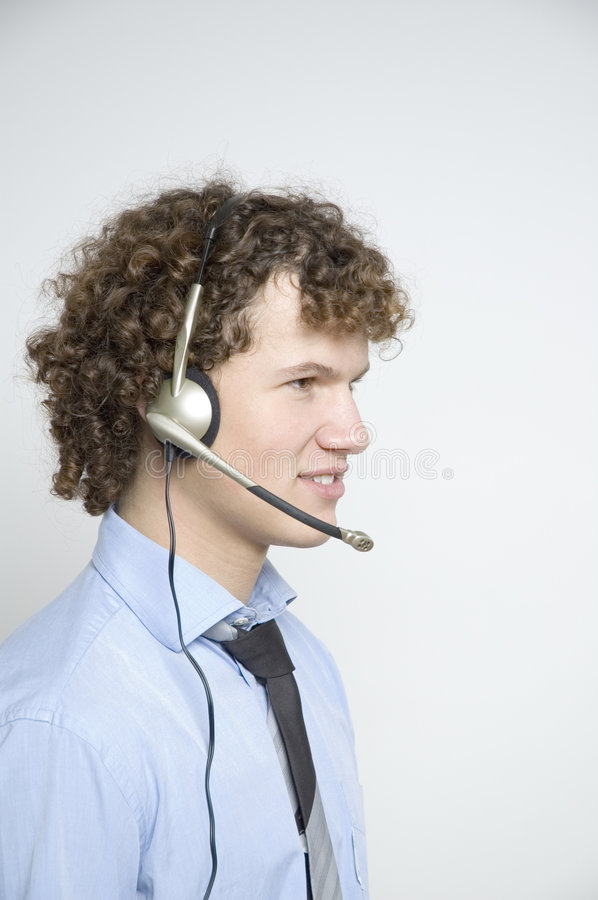 Free Boy With Telephone Headset Stock Images - 333284