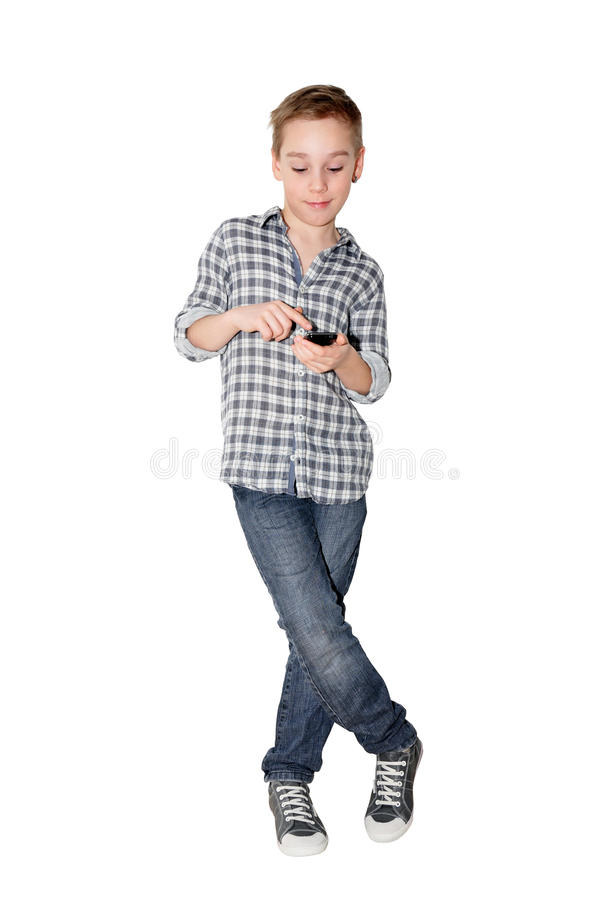 Free Boy With Touch Phone Stock Image - 18713921