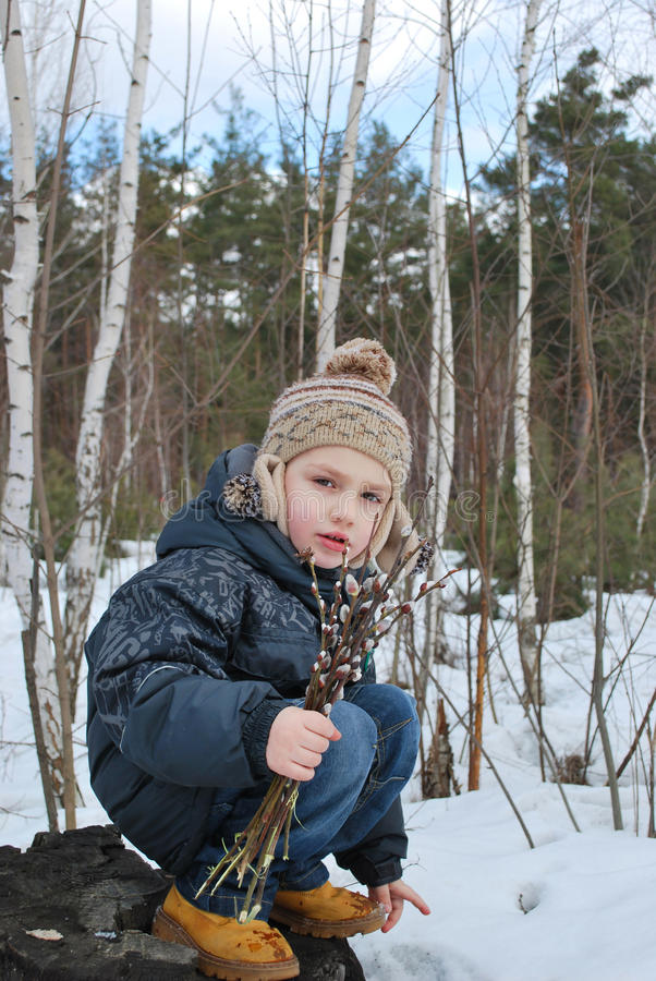 Free Boy With Willow Royalty Free Stock Images - 29917269