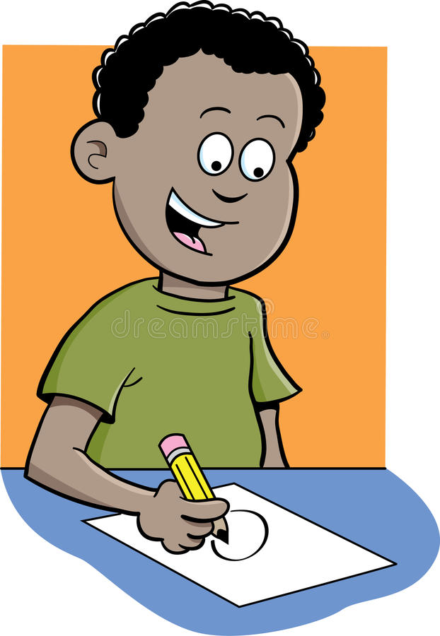 Download Boy writing stock vector. Image of education, child, vector - 26350839