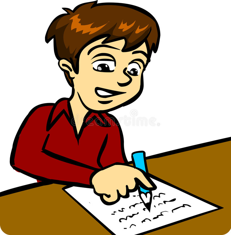 Download Boy Writing stock vector. Illustration of game, pencil - 2651235