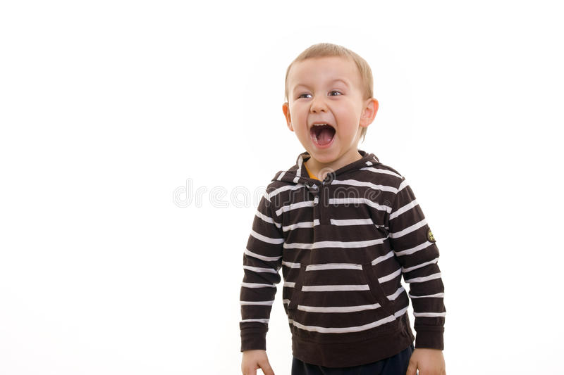 Download Boy yelling stock image. Image of child, shout, caucasian - 12577795