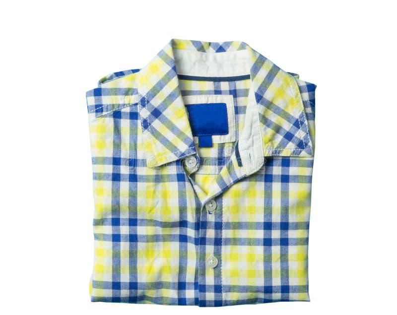 Boy yellow shirt isolated on white. Boy yellow casual shirt isolated on white royalty free stock photography