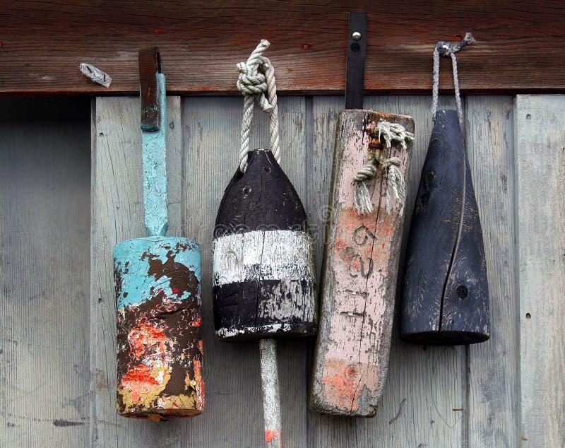 Boyas de la langosta imágenes de archivo libres de regalías