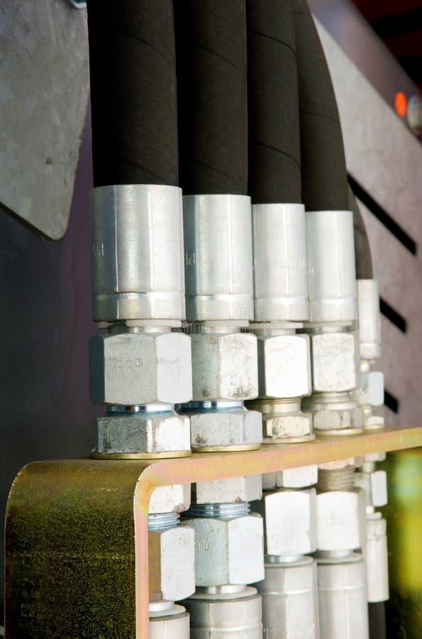 Boyaux hydrauliques tous neufs photo libre de droits