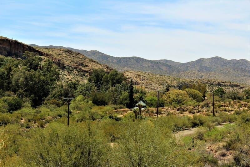 Boyce Thompson arboretum stanu park, przełożony, Arizona Stany Zjednoczone zdjęcia stock