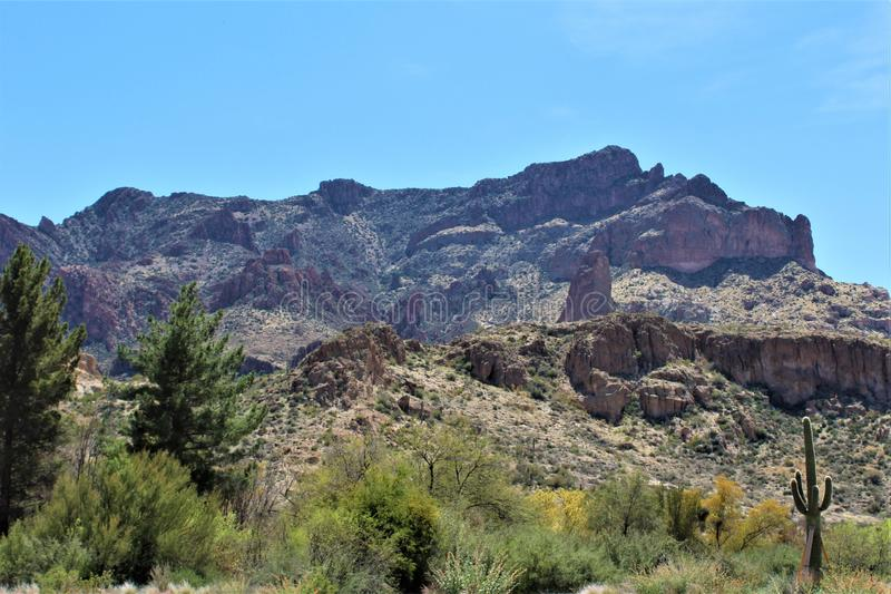 Boyce Thompson Arboretum State Park, supérieur, Arizona Etats-Unis photos stock