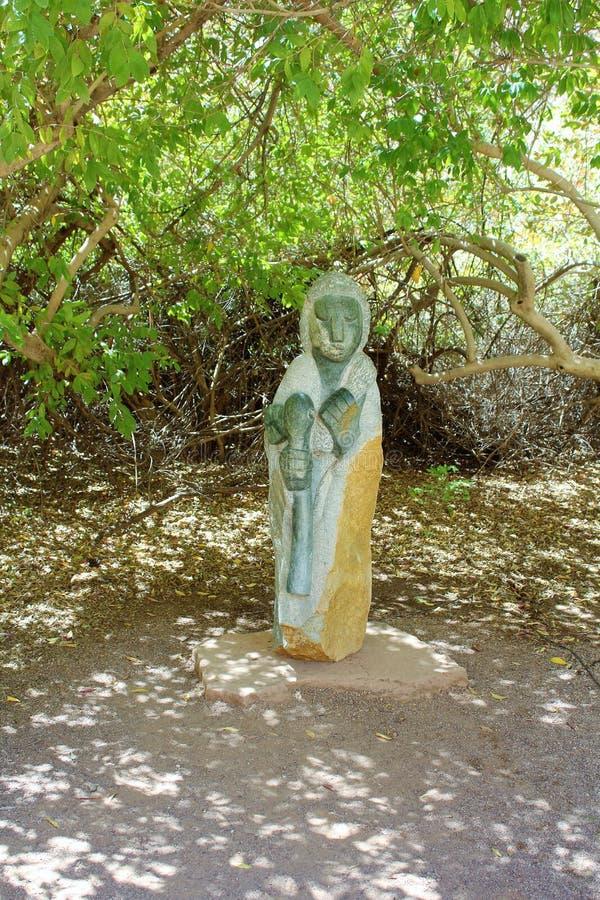 Boyce Thompson Arboretum State Park, Superior, Arizona United States. Stone statue at Boyce Thompson Arboretum State Park located at Superior Arizona in the stock photos