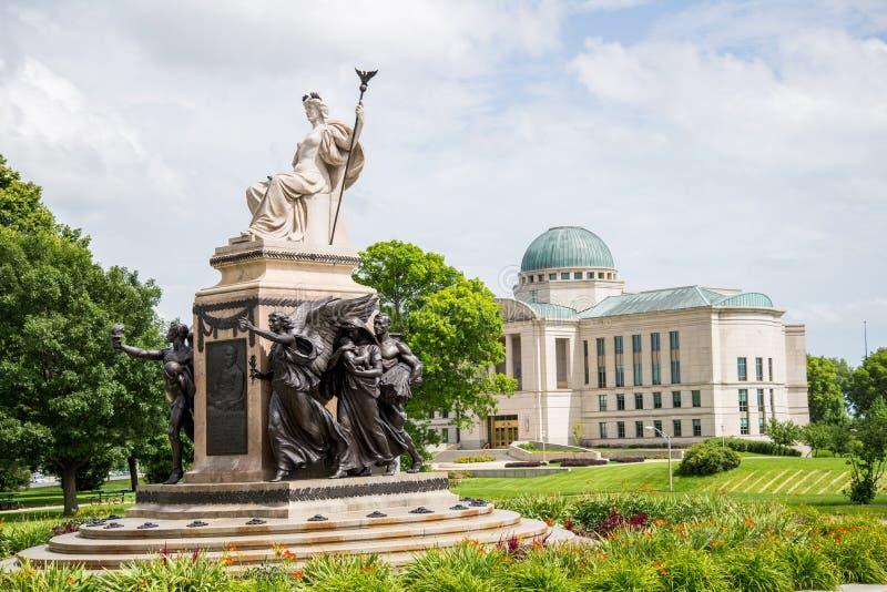 Boyd allison Вильгельма статуи Des Moines прописное стоковая фотография