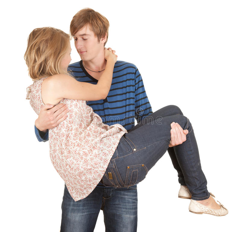 Download Boyfriend Carrying Girl In His Arms Stock Photo - Image: 21233410