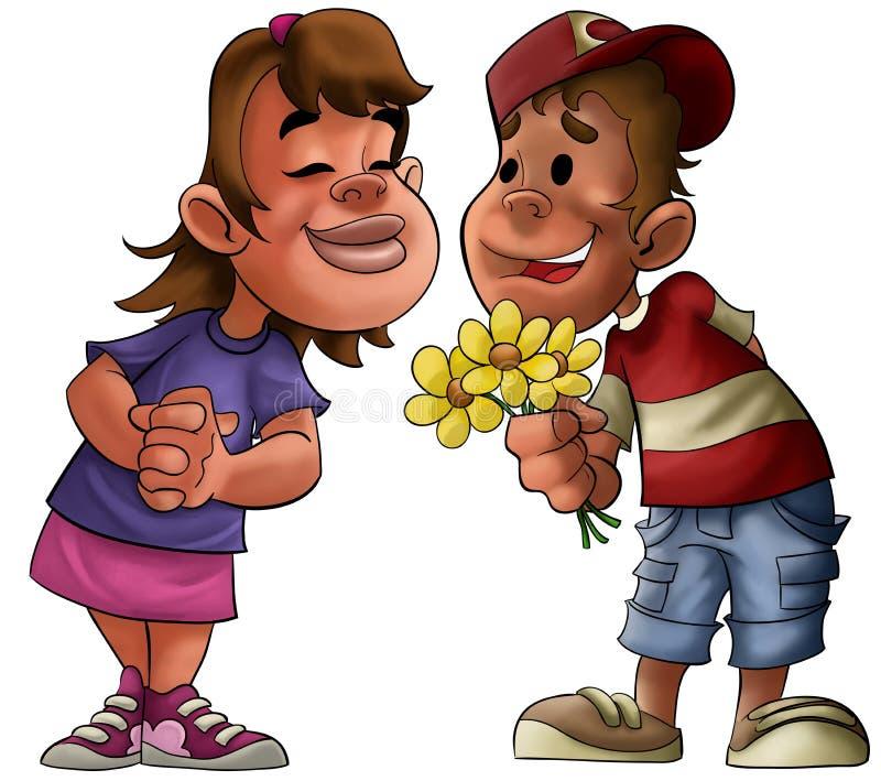 Boyfriend girlfriend vector illustration