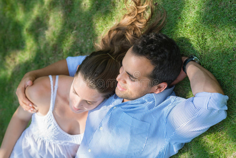 Boyfriend and girlfriend in love hugging royalty free stock images