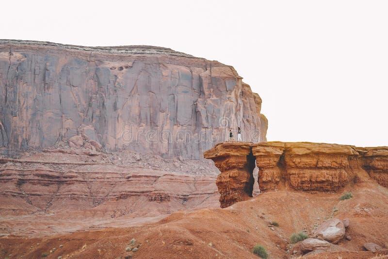 Boyfriend proposing to wife in Arizona. Boyfriend proposing to wife at monument valley in Arizona stock photo