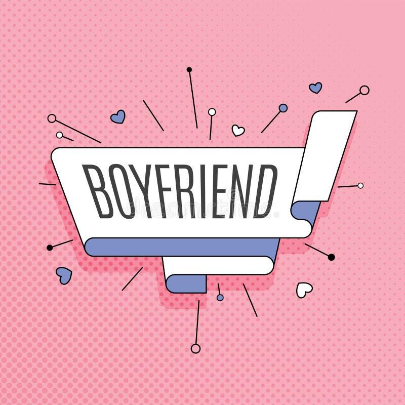 boyfriend Retro elemento di progettazione nello stile di Pop art sul passo di semitono illustrazione vettoriale