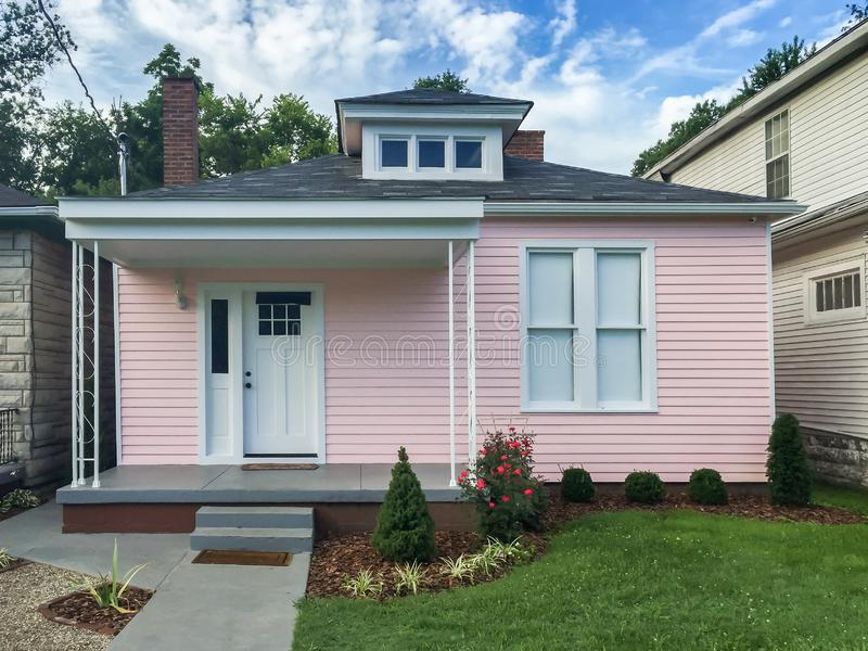 Boyhood Home of Muhammad Ali. Louisville, KY - July 11, 2016: Boyhood home of Muhammad Ali restored as it looked in the 1950s.  The home was opened for public stock images