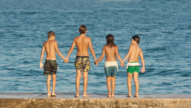 Boyhood vriendschap royalty-vrije stock afbeelding