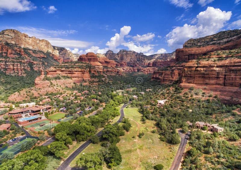 Boynton峡谷地区在Sedona,亚利桑那,美国 免版税库存图片