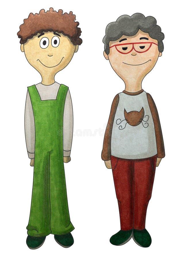 Download Boys 03 stock illustration. Image of children, smiling - 26836243