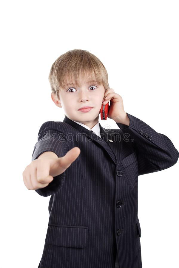 Boys approbation stock images