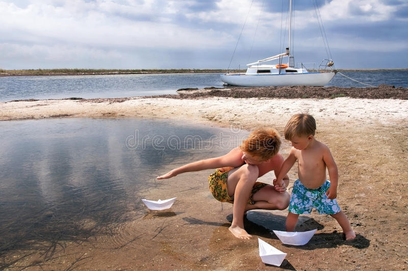 Download Boys are at the beach. stock image. Image of lifestyle - 39502663