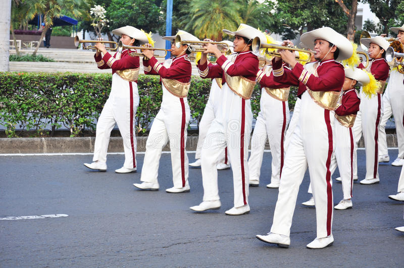Download Boys Blowing Trumpet In Marching Band Editorial Image - Image: 20469540