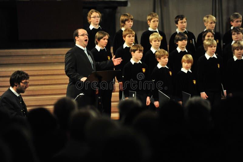Boys choir stock photography