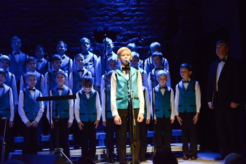 Boys choir performance royalty free stock image
