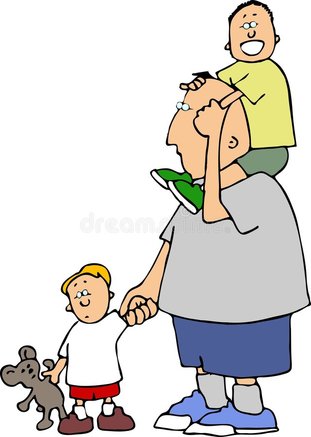 Download Boys day out stock illustration. Illustration of father - 464472