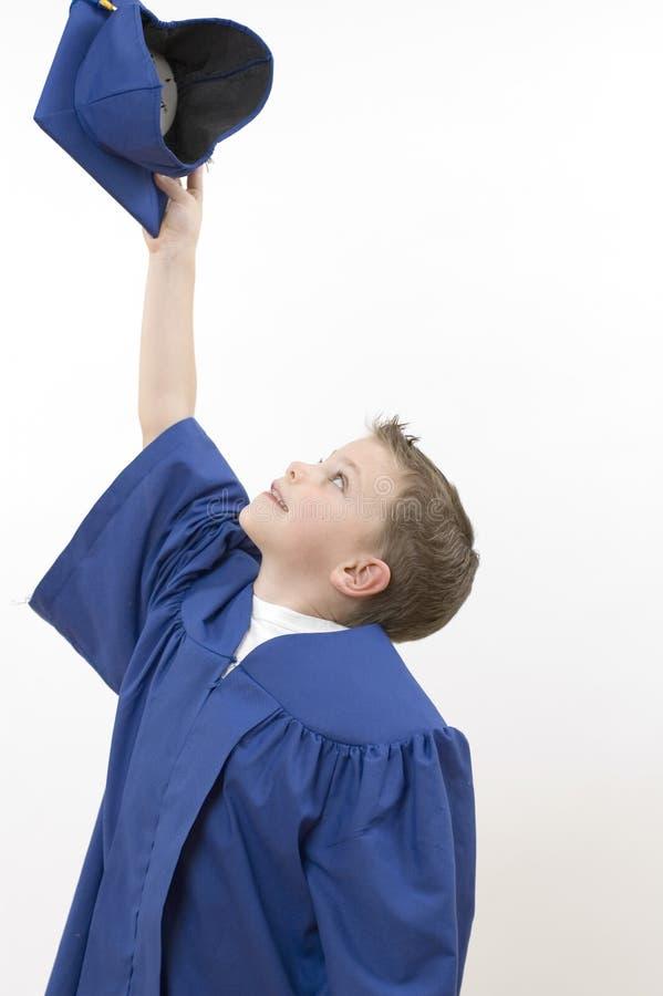 Boys / happy graduate royalty free stock image