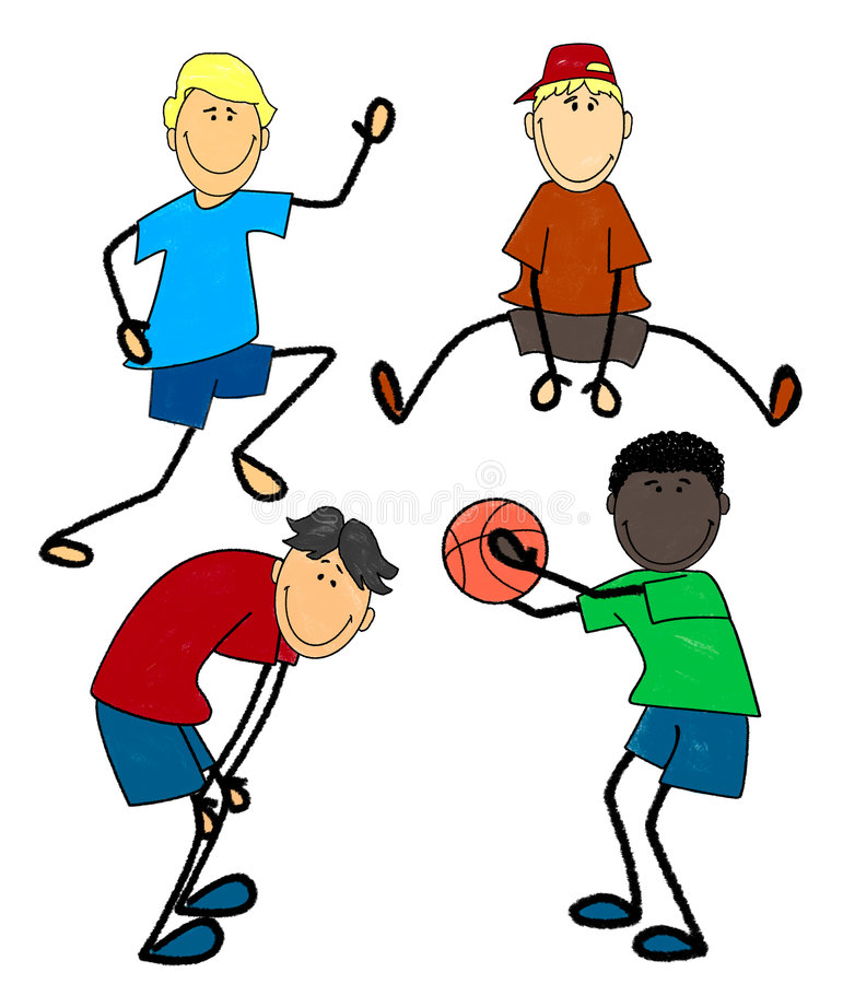 Download Boys at play stock illustration. Image of children, play - 4055304