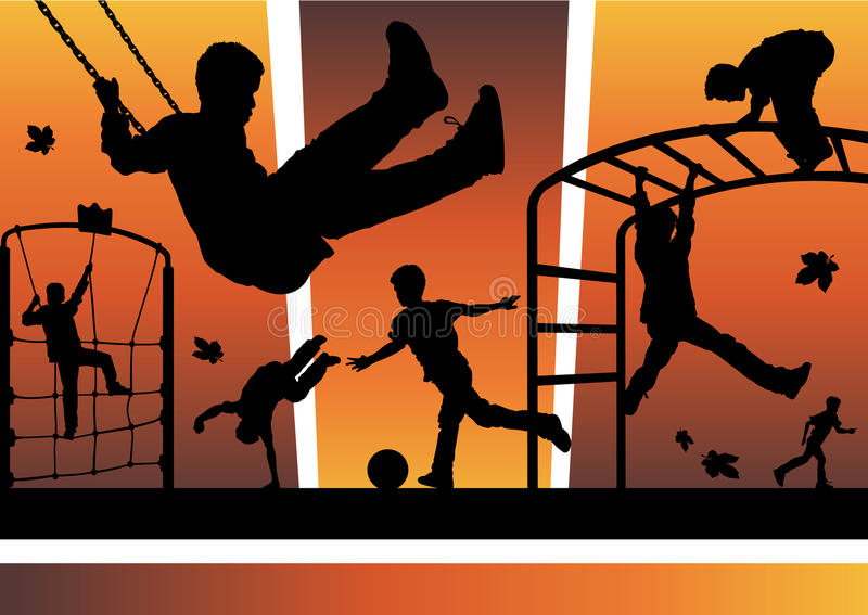 Download Boys in the playground stock vector. Image of city, boys - 15564561