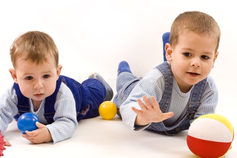 Boys playing royalty free stock photo
