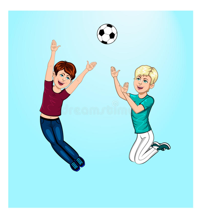 Download Boys playing ball stock illustration. Image of soccer - 30392841