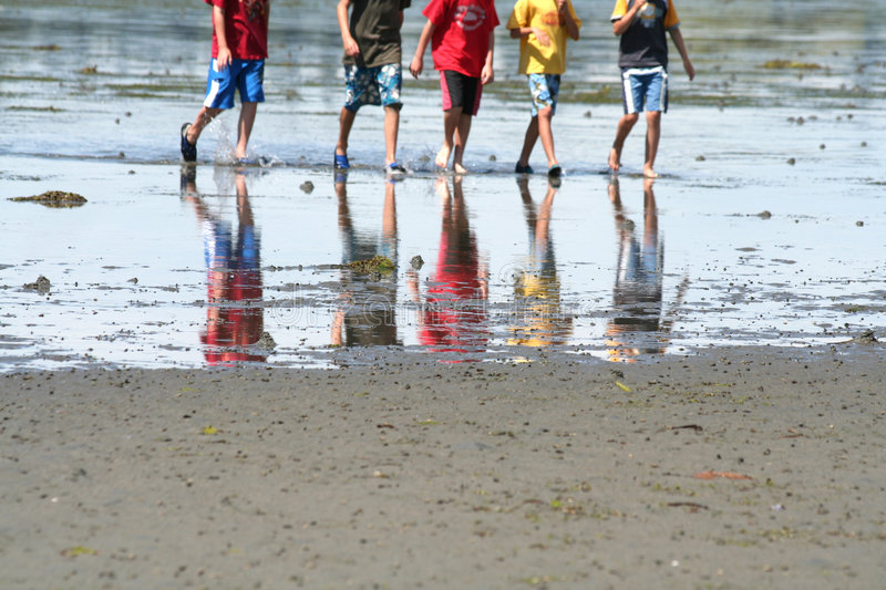 Download Boys playing on the beach stock image. Image of weekend - 959113