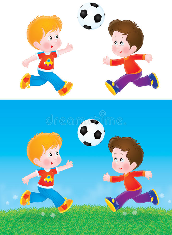 Download Boys playing football stock illustration. Image of field - 19416560