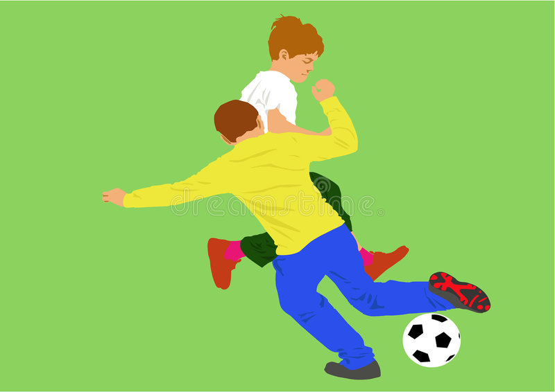 Download Boys playing football stock vector. Illustration of ball - 3929780