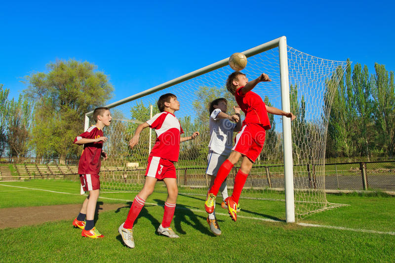 Download Boys playing soccer stock photo. Image of exercise, player - 25324204