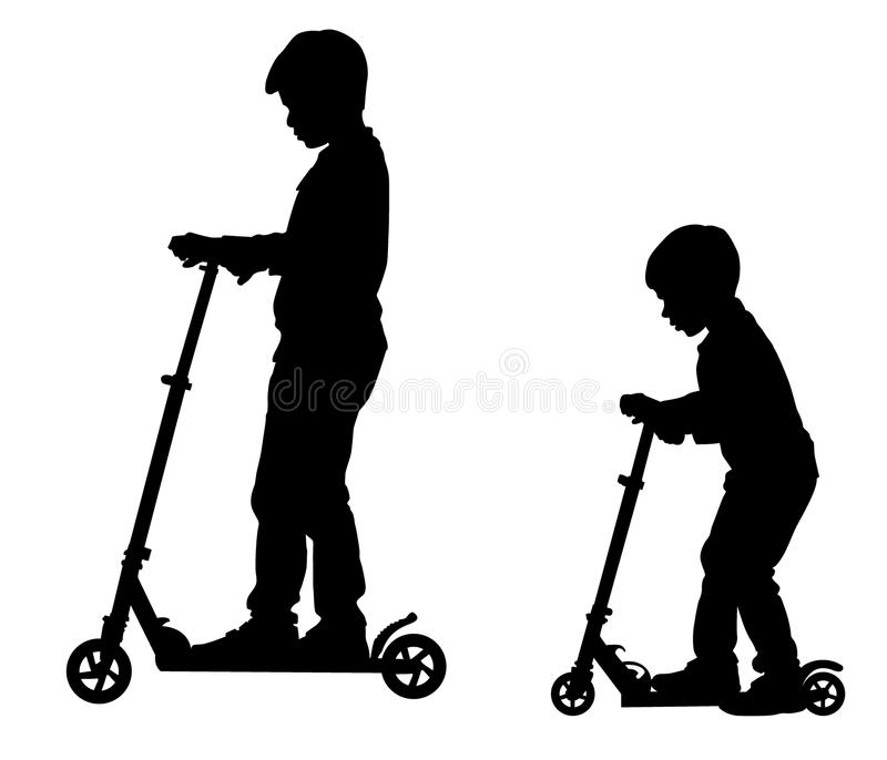 Boys On Scooter Royalty Free Stock Photography