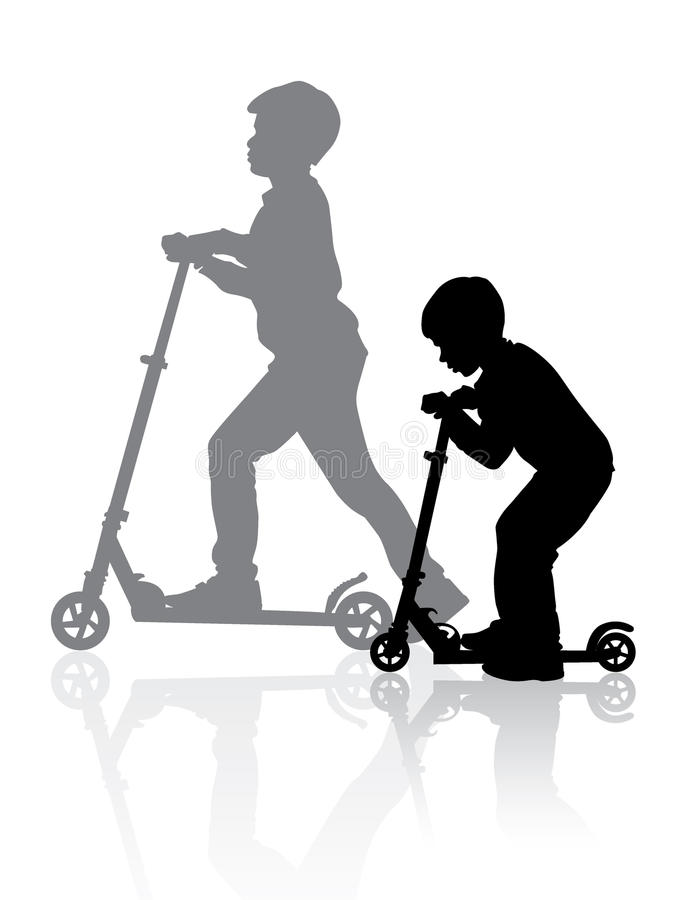 Boys On Scooter02 Royalty Free Stock Photos