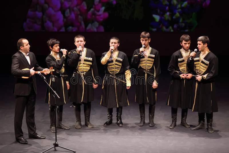 Download Boys Sing At Concert Of Gennady Ledyakh School Editorial Image - Image: 23238060