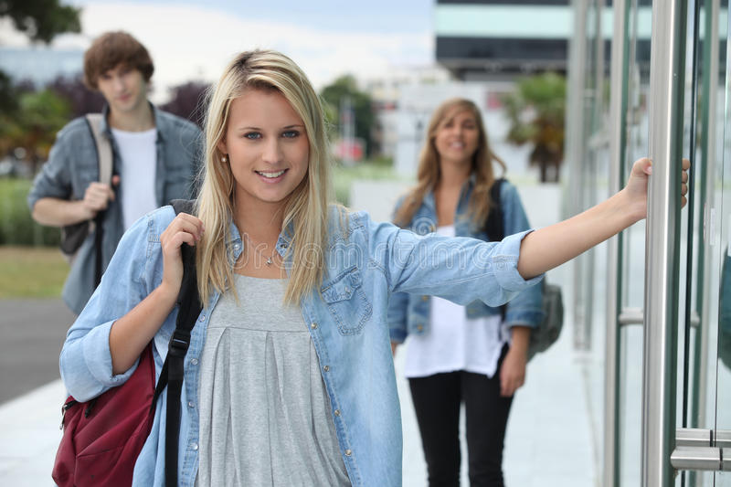 Download Boys in the street stock photo. Image of entrance, adolescent - 27913988