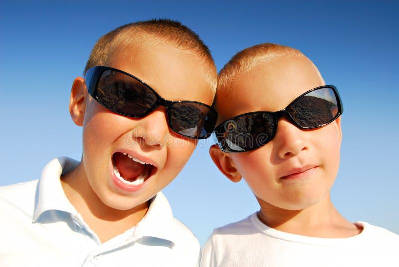 Boys With Sunglasses Royalty Free Stock Photos