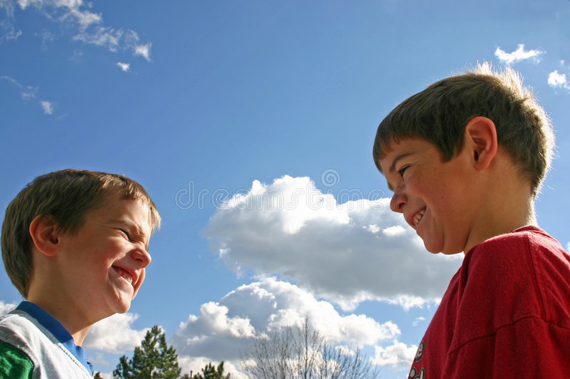 Download Boys Talking stock photo. Image of domestic, close, laughing - 1530060