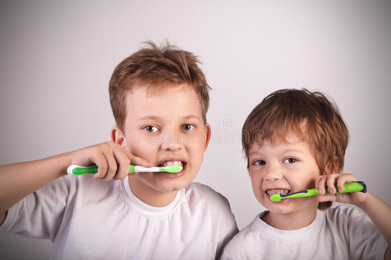 Download Boys with tooth brush stock image. Image of elementary - 27657265