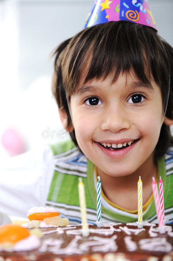 Free Boys With Candles On Cake Stock Image - 23006721