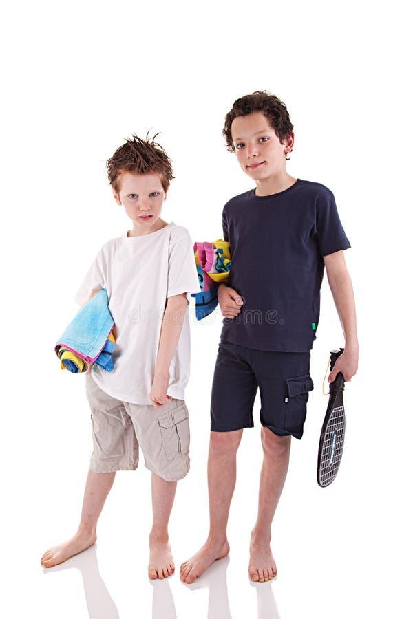 Free Boys With The Beach Towel Stock Photo - 13594460