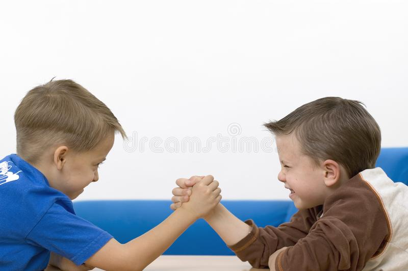 Boys / wrestling stock photo